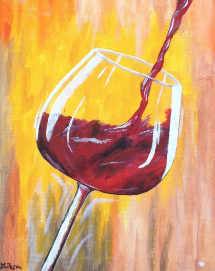 £60 Red Wine, acrylic on 24x30cm canvas .jpg