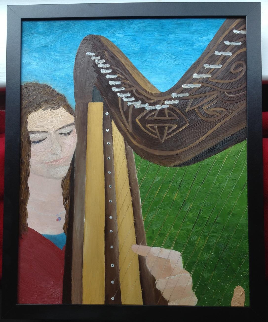 70-harp-player-oil-on-wooden-board-framed-1-2